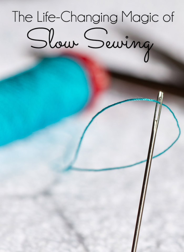 Have you heard of the slow sewing movement? This article by The Seasoned Homemaker shows you how. -Sewtorial