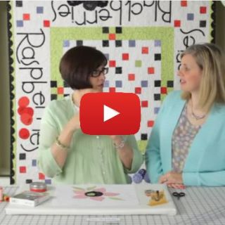 Learn how to hand stitch applique in this video tutorial by Fat Quarter Shop.