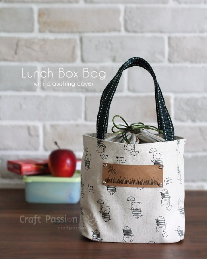 This lunch bag flip by Craftpassion looks more like a casual handbag that you'd pair up with a nice pair of comfy jeans than a clunky lunch box. -Sewtorial