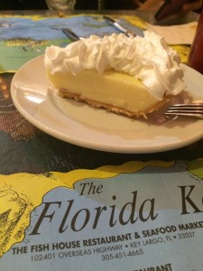 Key lime pie from the Fish House in Key Largo.