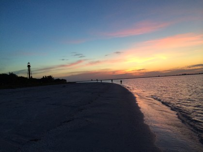 Sunrise at the Sanibel Lighthouse.