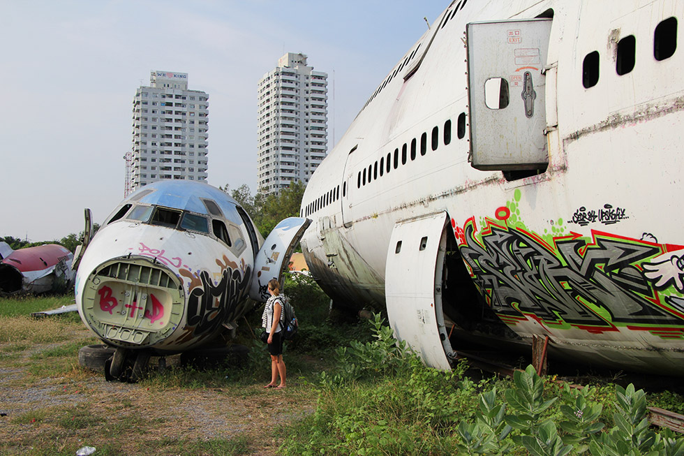 Airplane Graveyard in Bangkok