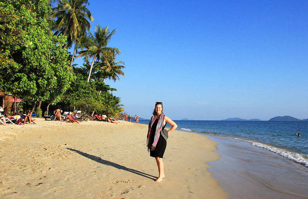 Striking a pose at Klong Kloi Beach on Koh Chang
