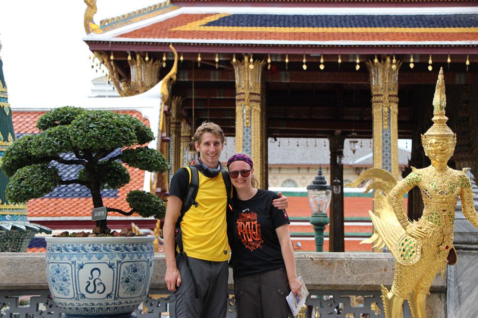 Mariska & Sander at Wat Phra Kaew in Bangkok