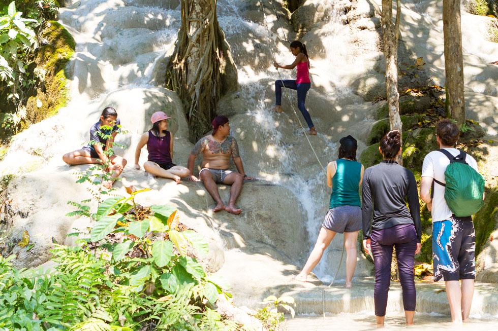 Bua Thong Waterfalls in Chiang Mai