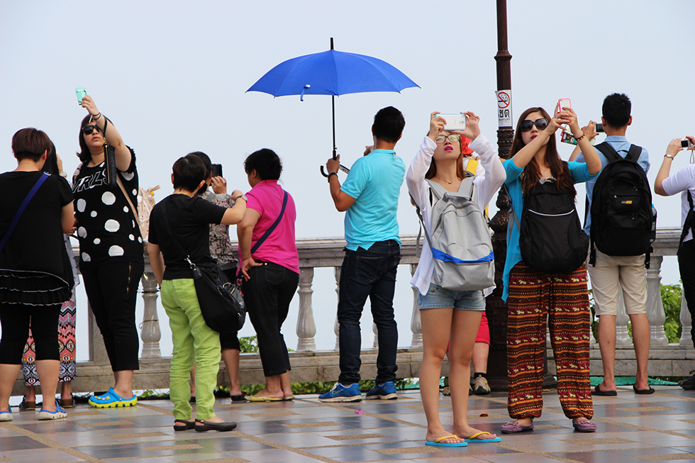 Tourists at Doi Suthep - Chiang Mai