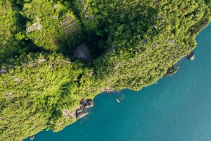 The Emerald Cave seen from above - Koh Mook