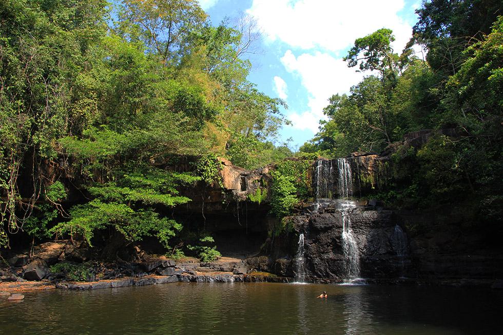 Khlong Chao Waterfall in Koh Kood