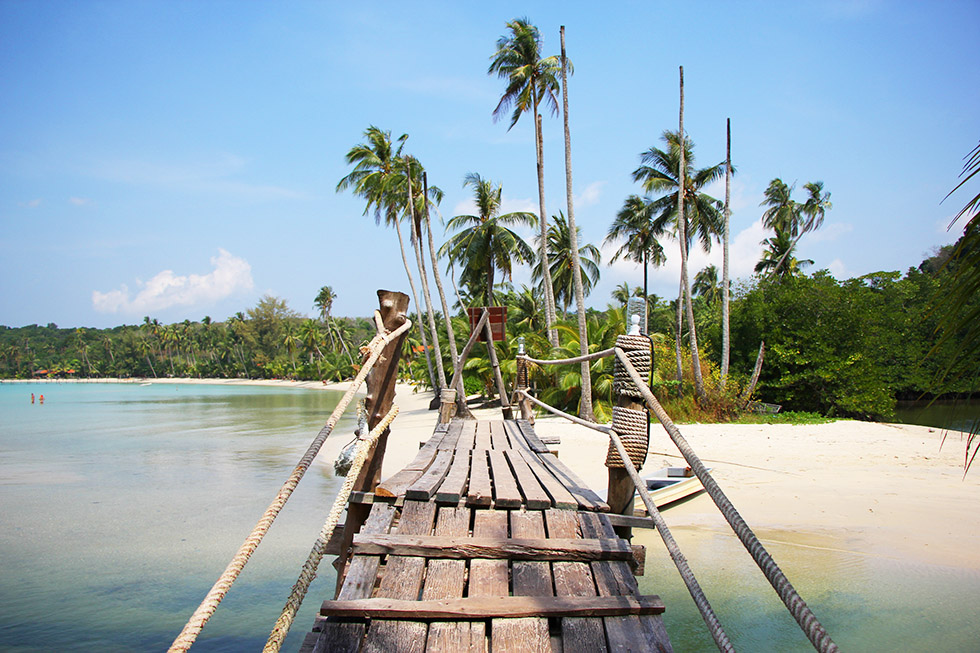 Cross the bridge to reach Bang Bao Bay in Koh Kood
