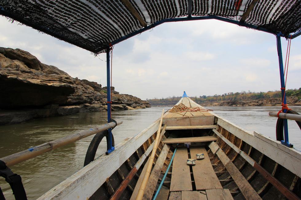 Sailing the Mekong River - Sam Phan Bok Canyon