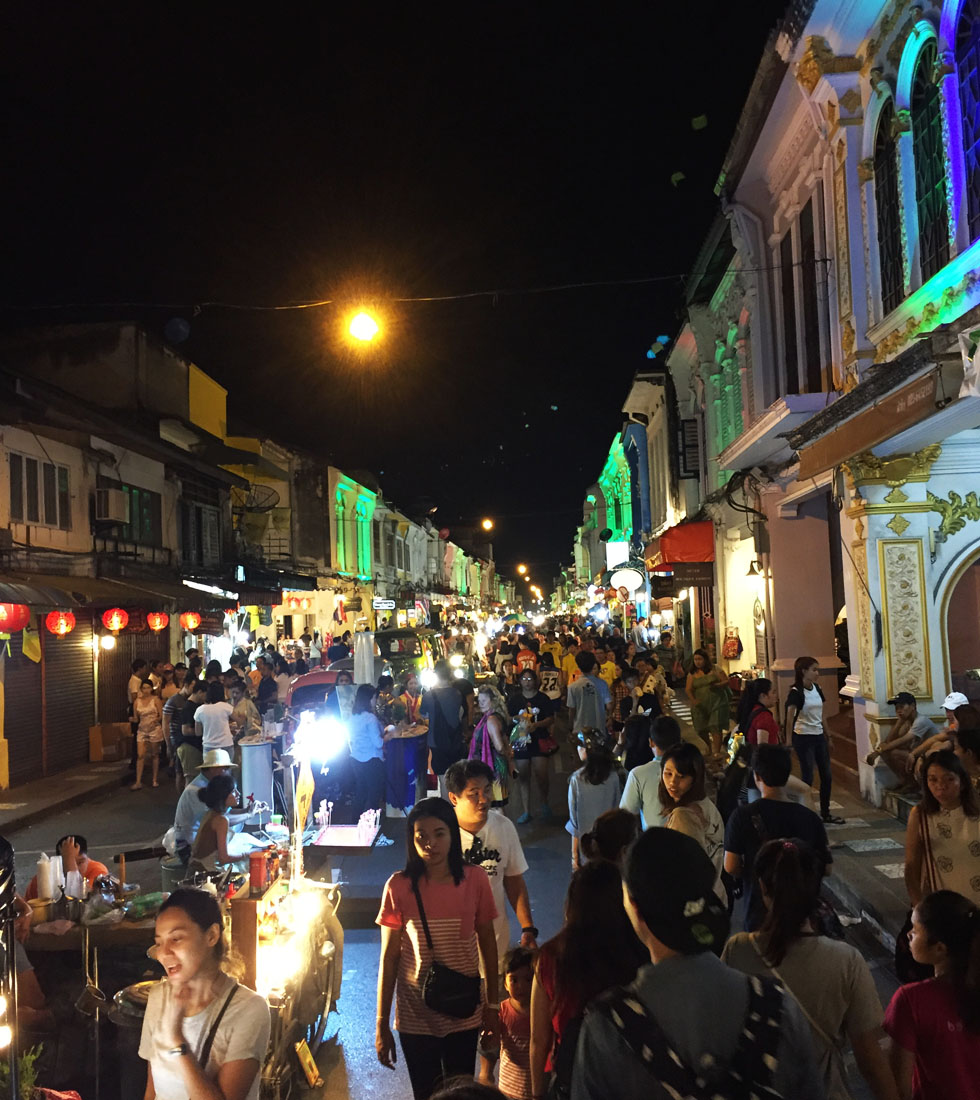Night market in Phuket Old Town