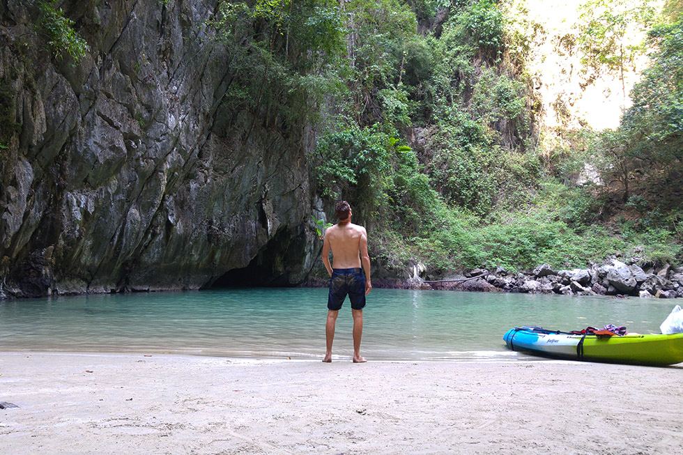 Emerald Cave in Koh Mook