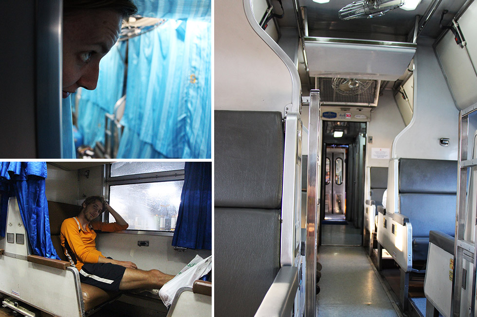 Traveling by sleeper train in Thailand
