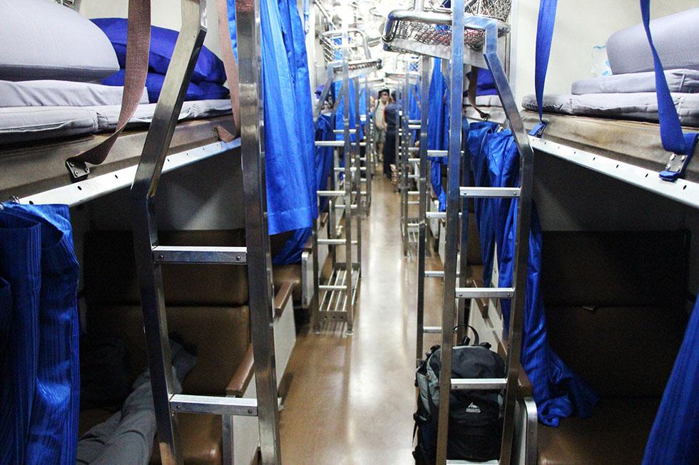 The aisle - Sleeper train in Thailand