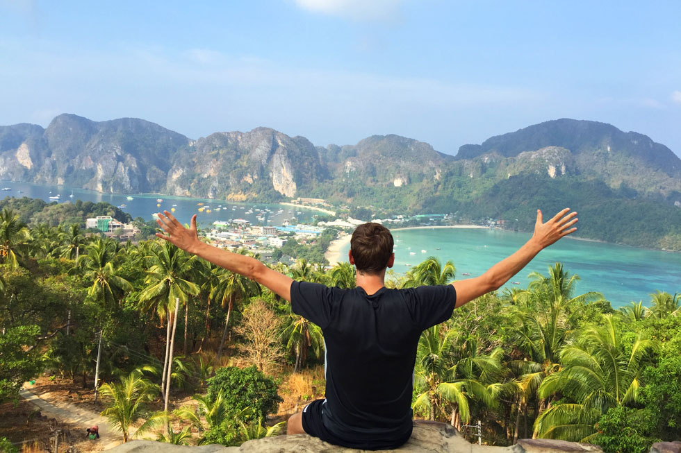 Sander at the Koh Phi Phi Viewpoint