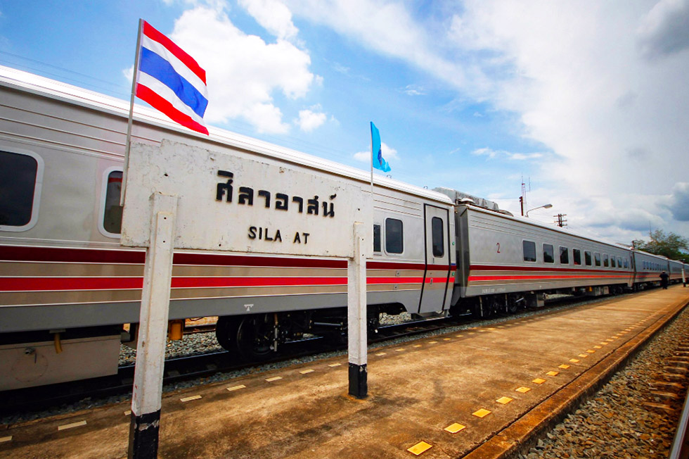 Exterior of the Thai sleeper train