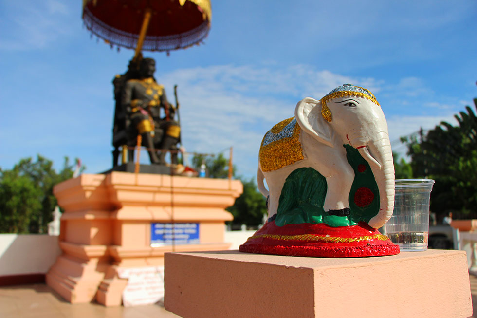 Statue of King Rama V - Cycling in Chiang Mai