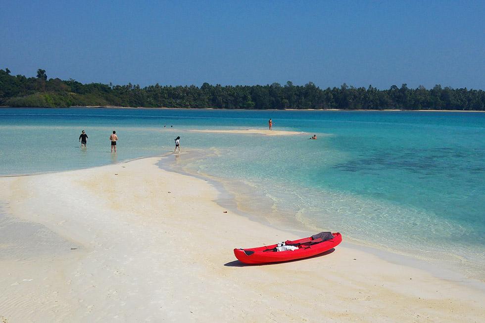 Kayaking from Koh Mak to Koh Kham