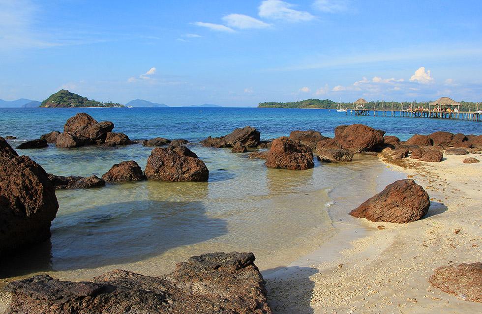 Rocky beach in Koh Mak