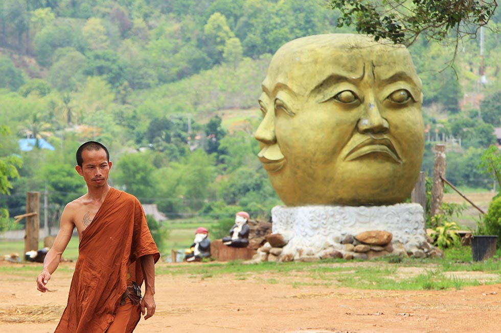 A monk at Su Tong Pae in Mae Hong Son