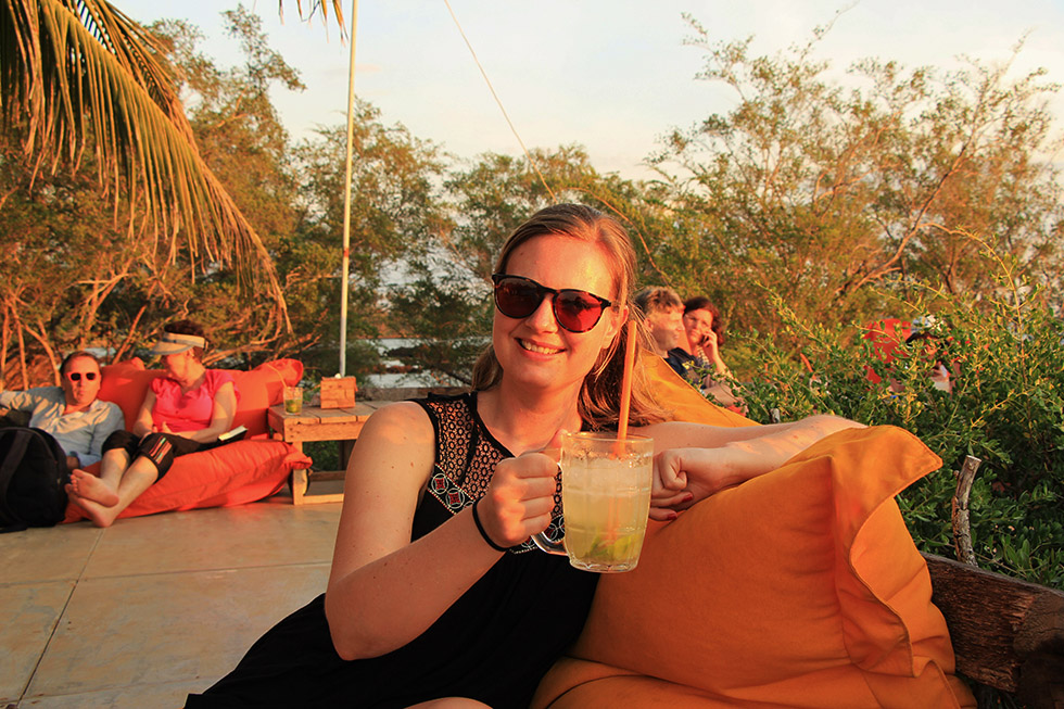 Happy Hour at the Banana Sunset Bar in Koh Mak
