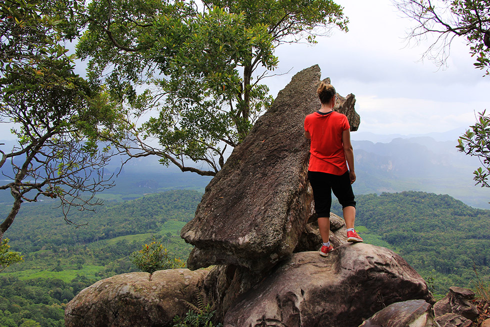 Mariska at Khao Ngon Nak Trail Viewpoint in Krabi