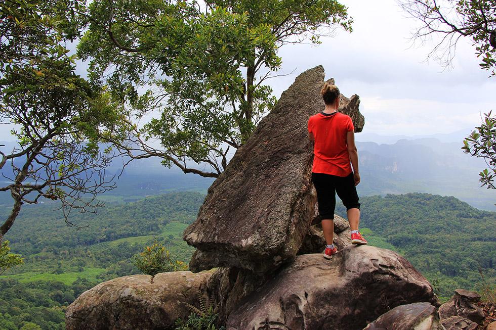 Mariska at Khao Ngon Nak Trail Viewpoint in Krabi