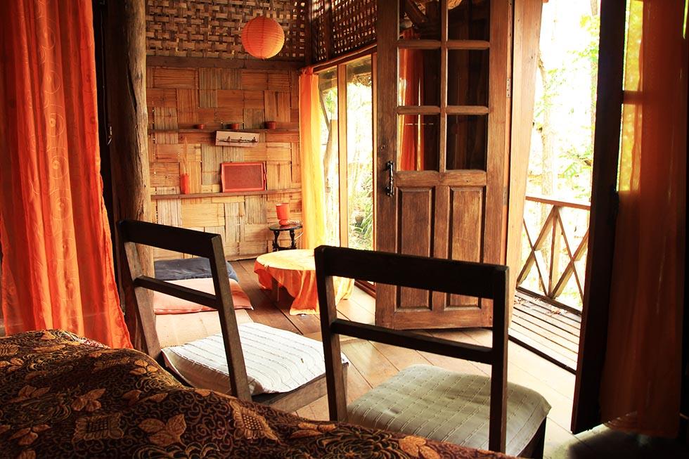 Our bungalow at Sang Tong Huts in Mae Hong Son