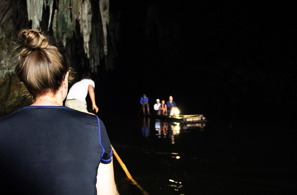 Rafting through Tham Lod Cave