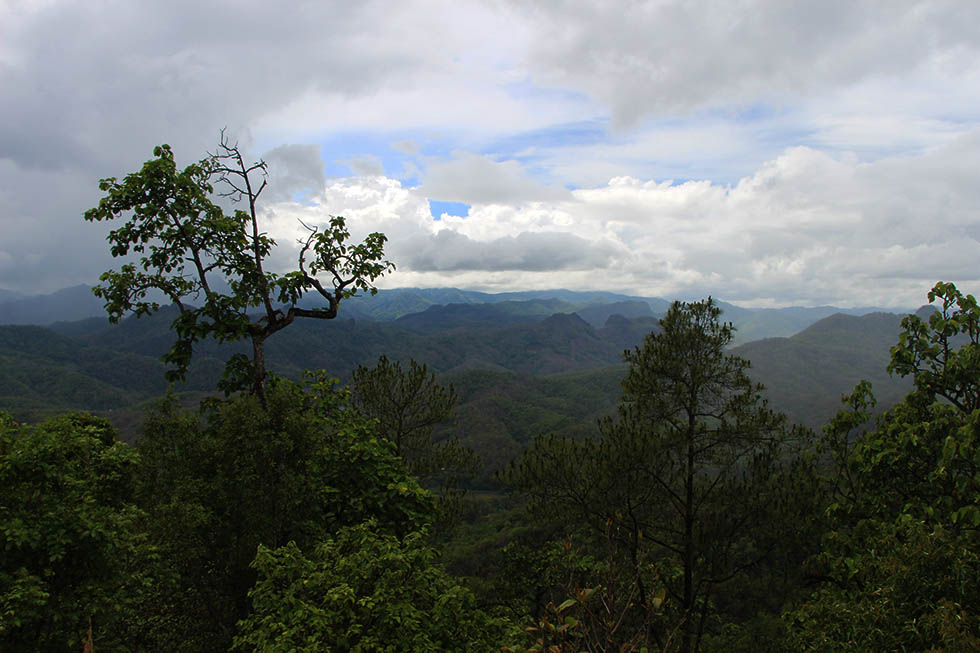 A cloudy view over Mae Hong Son