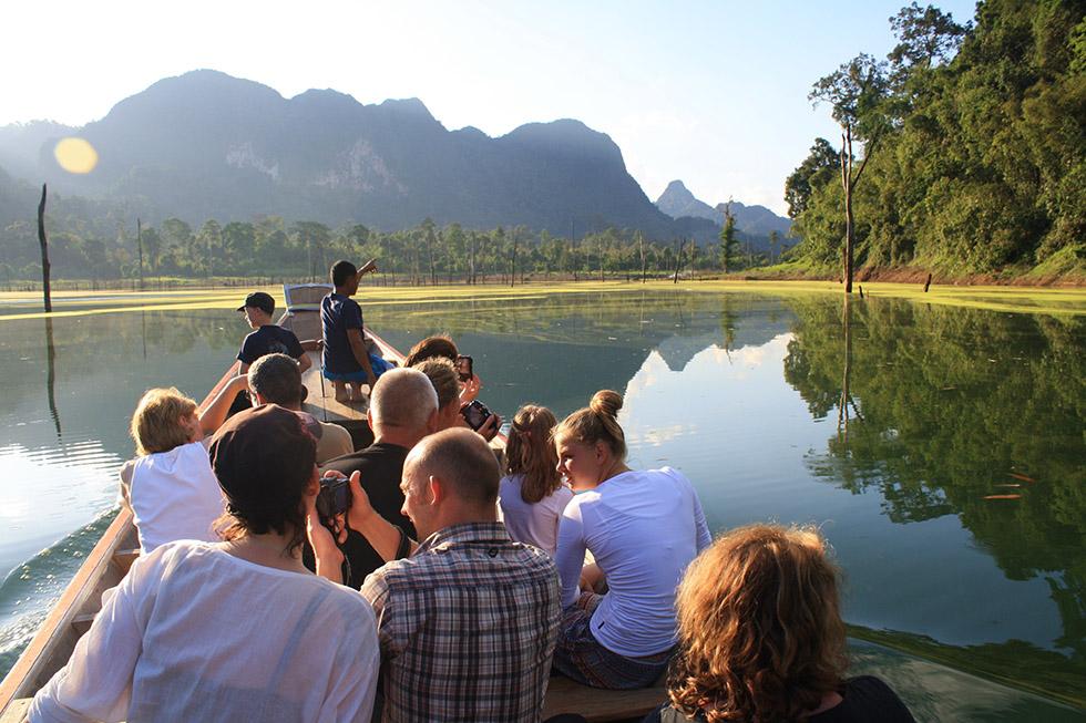 Boat trip across Cheow Lan Lake - Khao Sok National Park