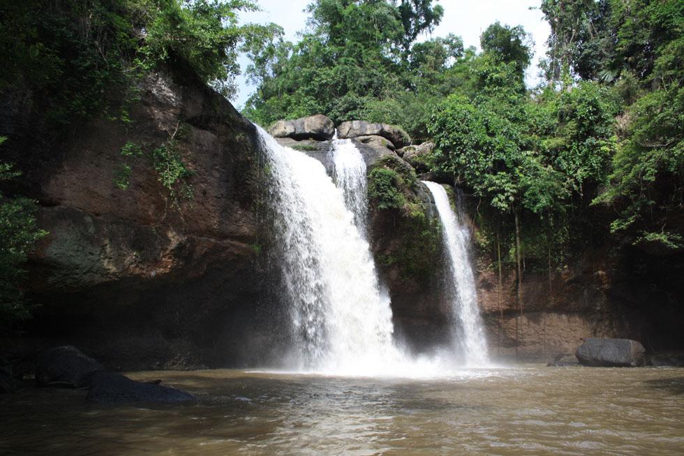 Namtok Heo Suwat Waterfall in Khao Yai National Park Thailand