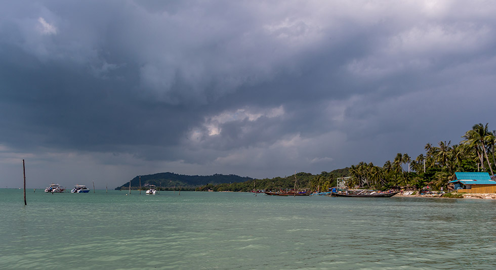 Dark clouds above Koh Samui