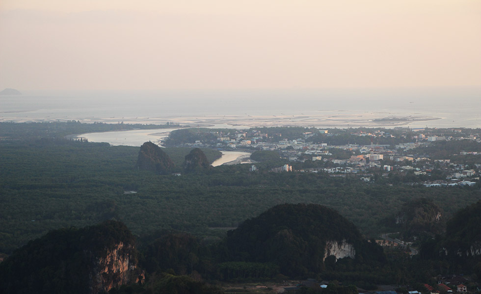 Krabi Town from a distance