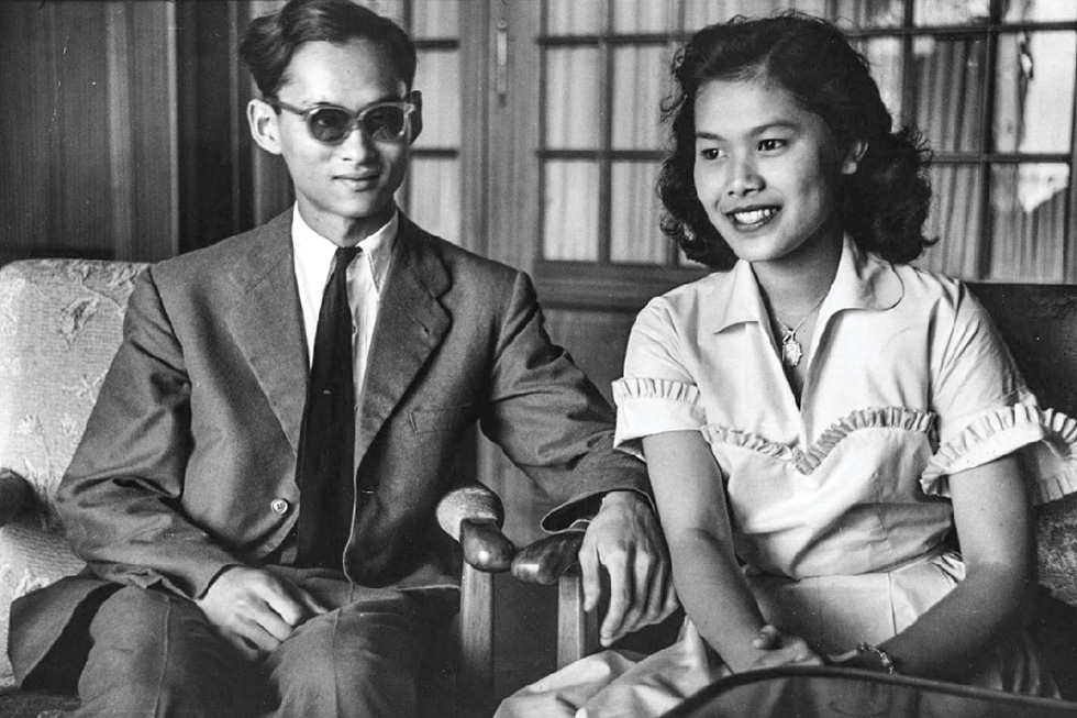 Late king Bhumibol and Queen Sirikit