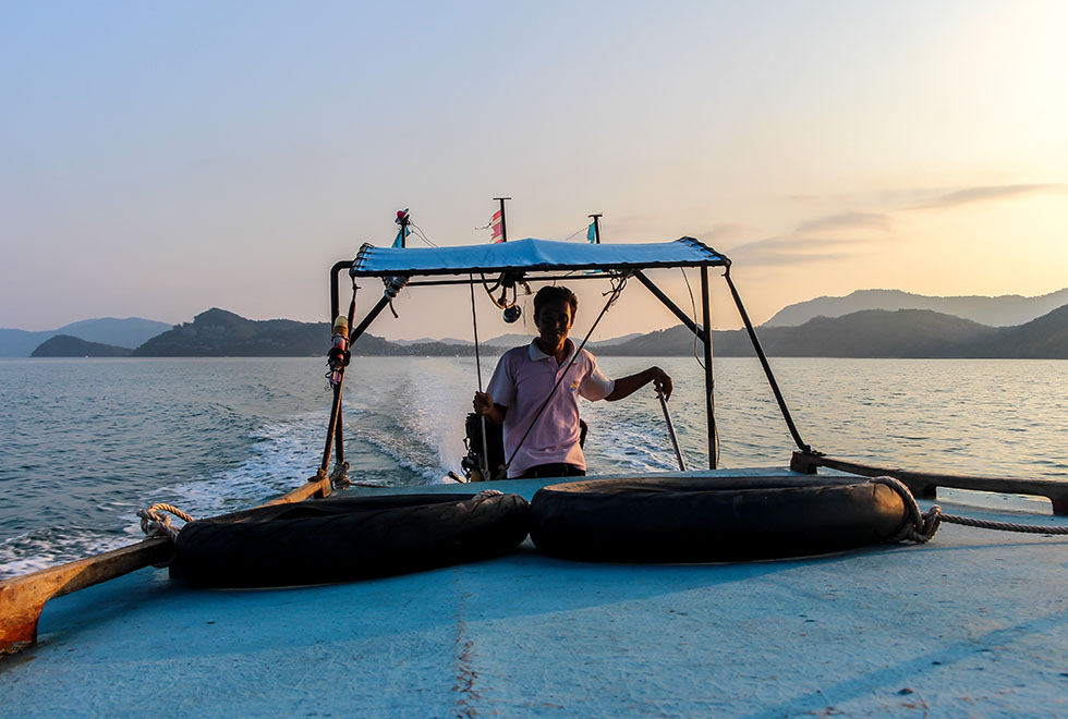 Longtailboat at Koh Yao Yai