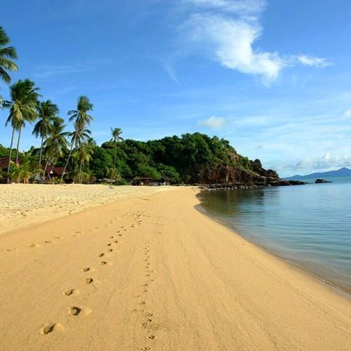 The end of Mae Nam Beach