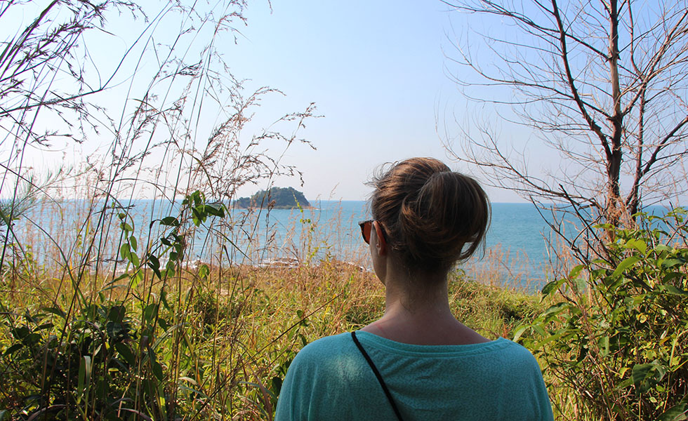 Mariska at the Koh Samet viewpoint