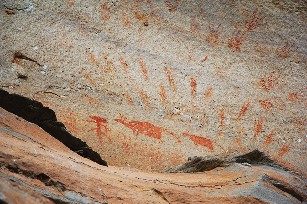 Rock Paintings in Pha Taem National Park