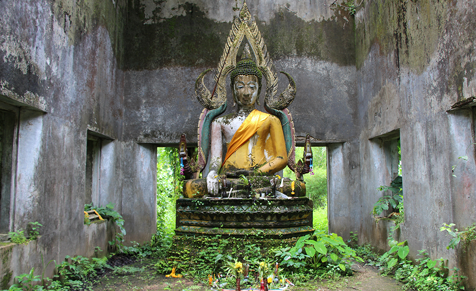Jungle temple in Sangkhlaburi