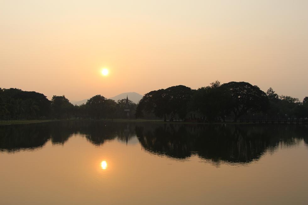 Sunset in Sukhothai