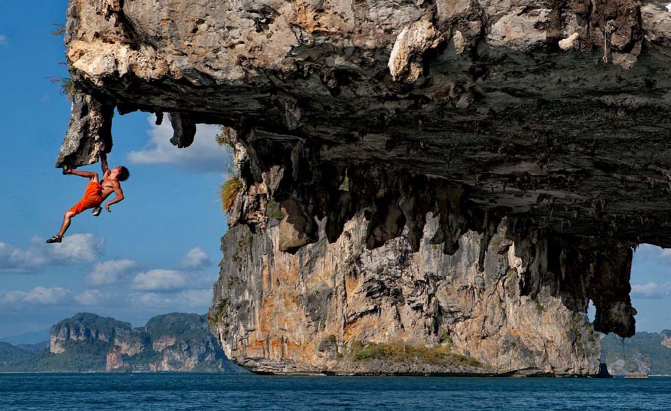 Deep Water Soloing at Ton Sai Beach