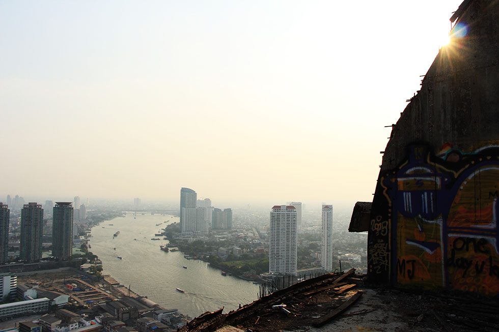 View of Chao Phraya River from the Sathorn Unique Tower