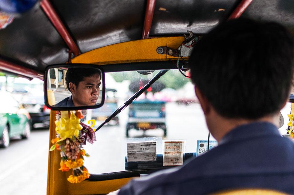 Tuk tuk driver in Bangkok