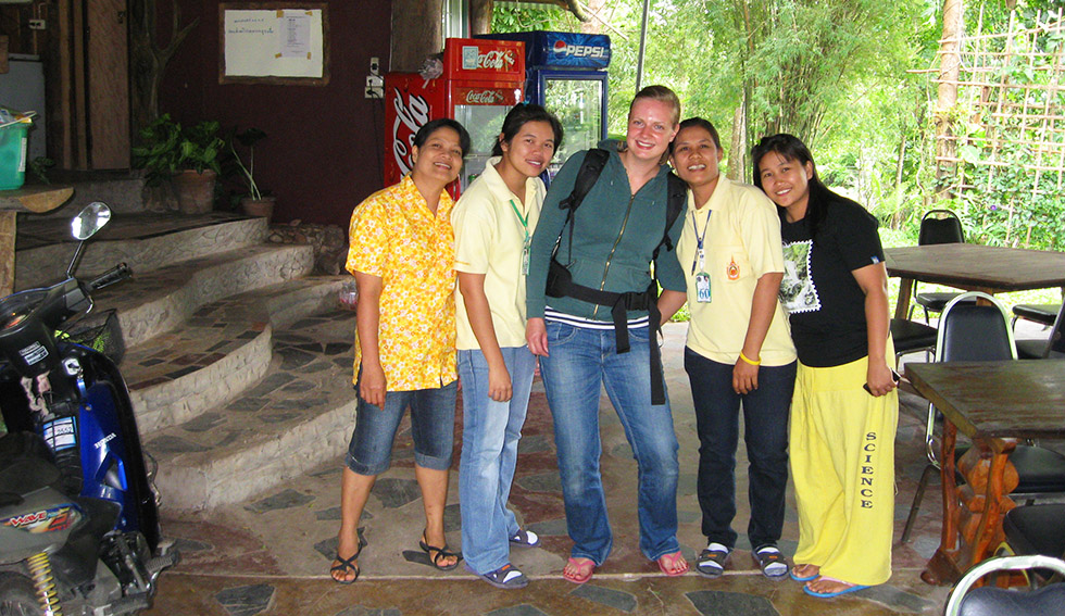 The friendly staff of Langsang Nation Park