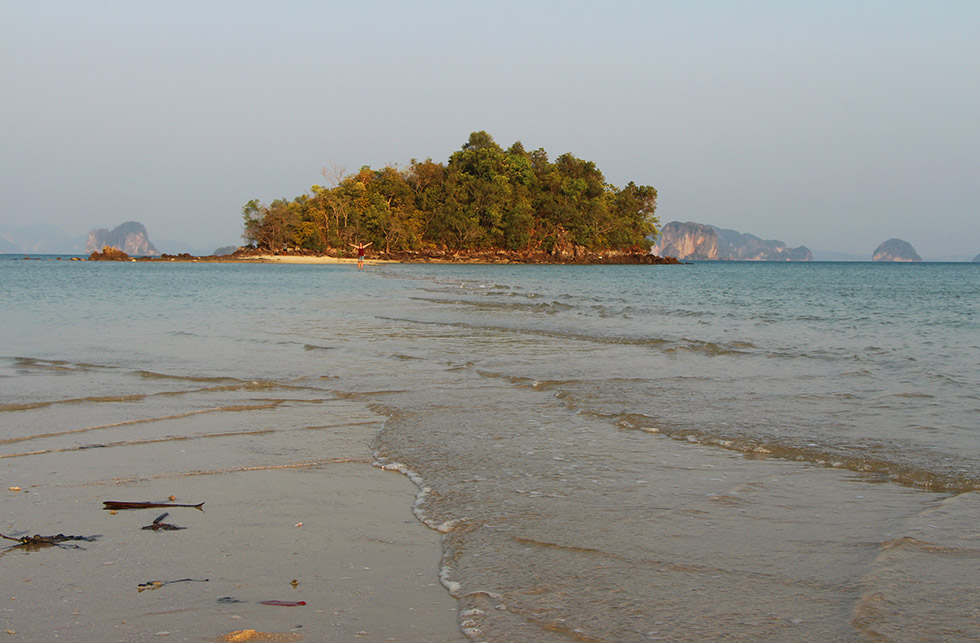At low tide you can walk to this island from Koh Yao Noi