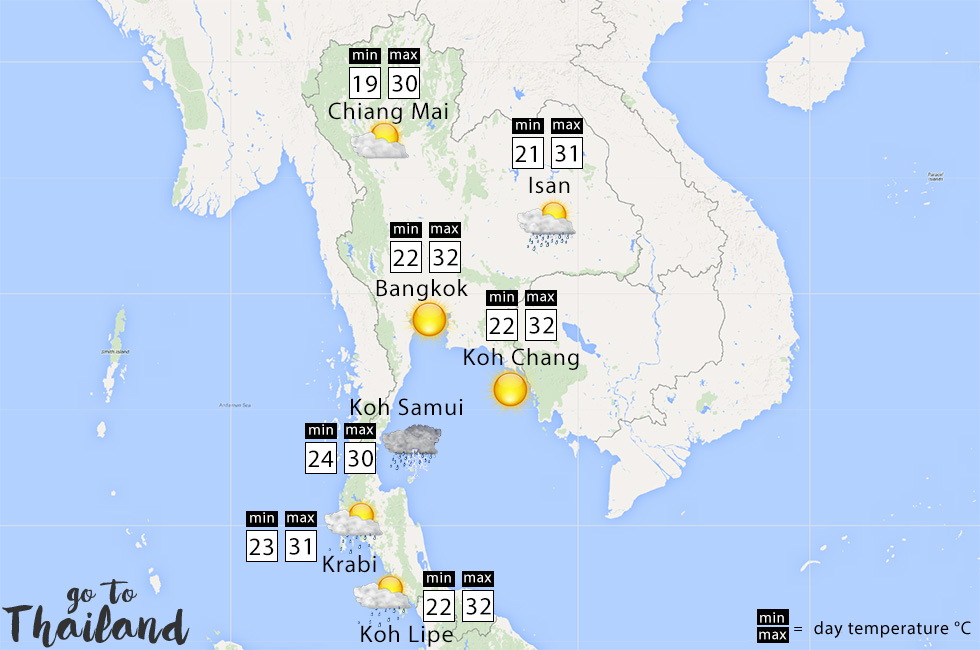 What to expect of the weather in Thailand in November