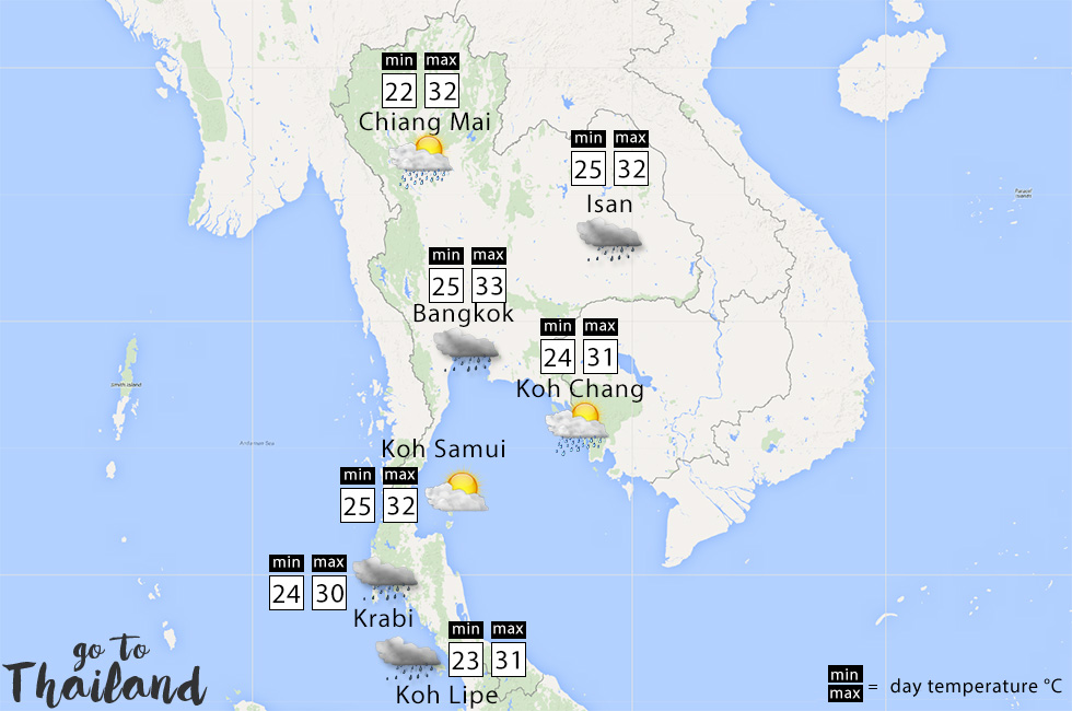 What to expect of the weather in Thailand in September