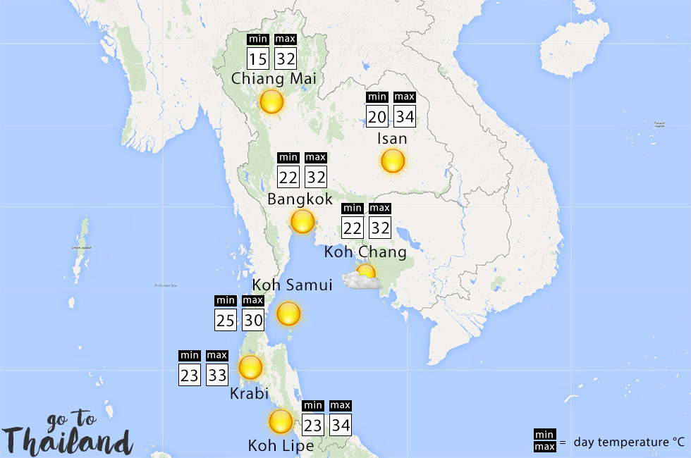 What to expect of the weather in Thailand in February