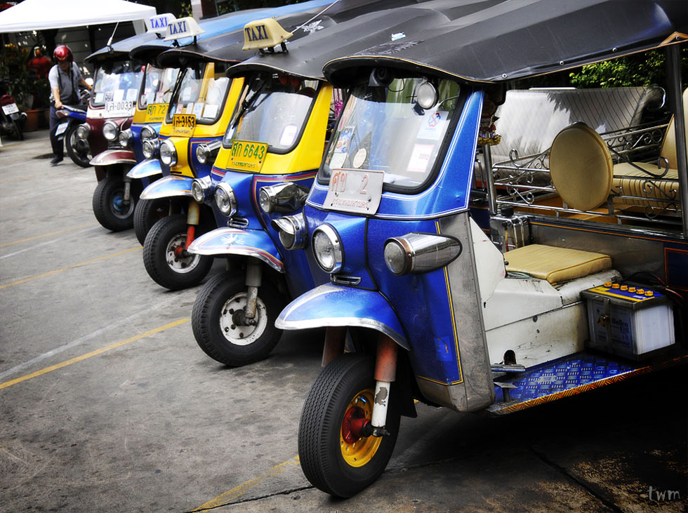 Bunch of tuk-tuks in Bangkok
